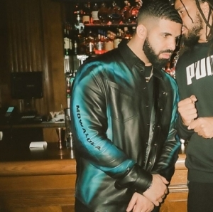 Drake Wears Custom Leather Jacket By Nigerian Designer, Mowalola